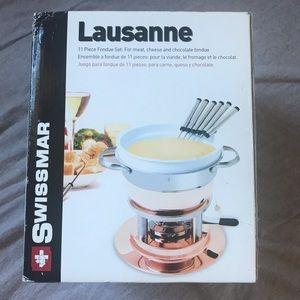 NWT swissmar lausanne 11 piece fondue set